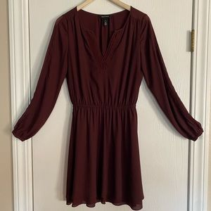 Wine Colored Tunic/Dress- Holiday Wear Ready.